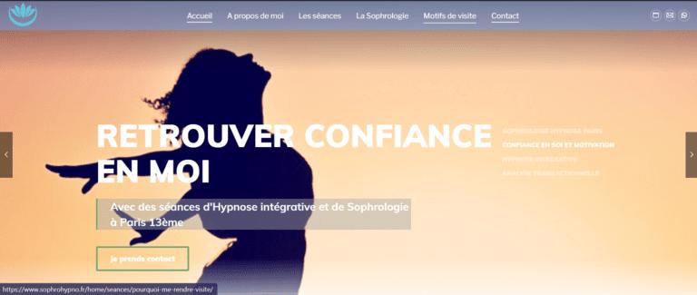 site web conception création de site internet seo clients sophrologie magnetiseur