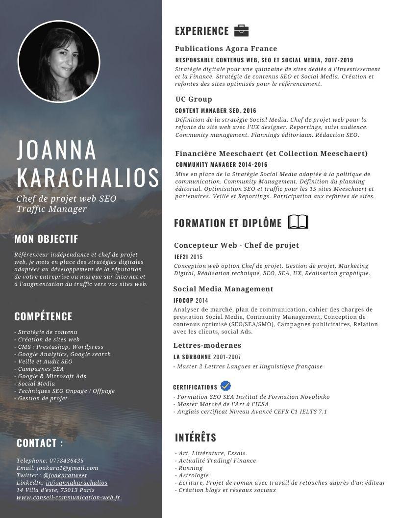 CV Joanna Karachalios